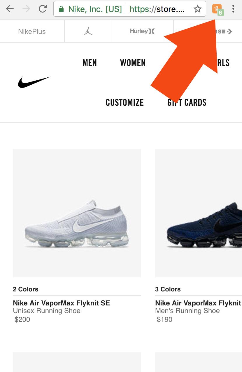 NikeButtonArrowMobile