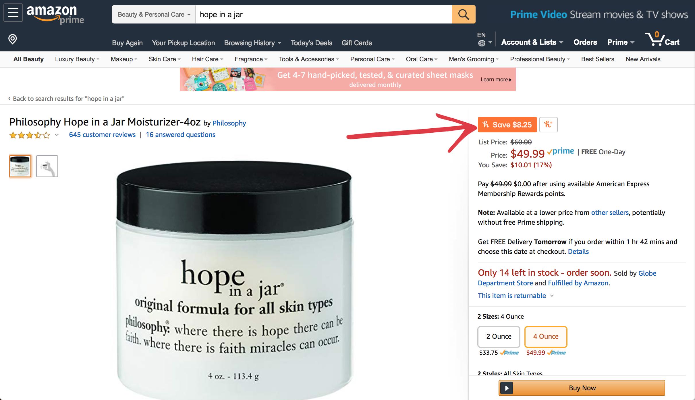 Amazon-HopeInAJar-Savings